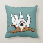 Cute Beagle - Color Customizable Throw Pillow