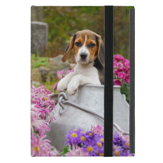 Cute Beagle Dog Puppy in a Milk Churn - Protection Case For iPad Mini