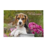 Cute Beagle Dog Puppy in Milk Churn  Entry Welcome Doormat
