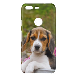 Uncommon Google Pixel 5' High-Gloss Deflector Case with Beagle Phone Cases design