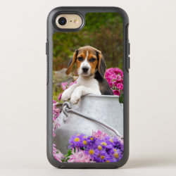 Cute Beagle Dog Puppy in Milk Churn Photo -protect OtterBox Symmetry iPhone 8/7 Case
