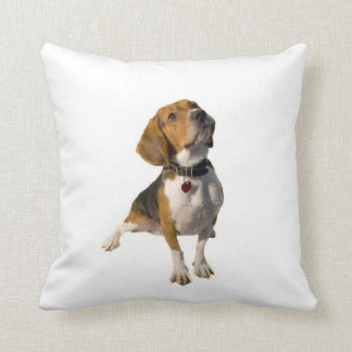Cute Beagle Dog Throw Pillow