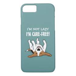 Cute Beagle - Dog with Custom Text iPhone 8/7 Case