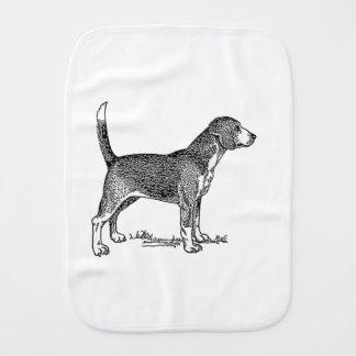 Cute Beagle Elegant Dog Drawing Baby Burp Cloths