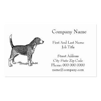 Cute Beagle Elegant Dog Drawing Business Card