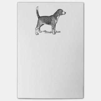 Cute Beagle Elegant Dog Drawing Post-it Notes
