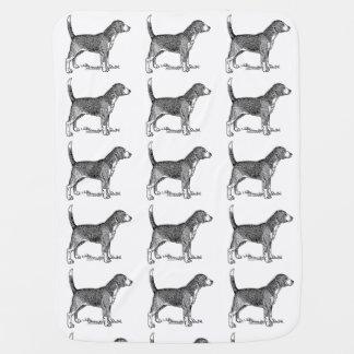 Cute Beagle Elegant Dog Drawing Stroller Blankets