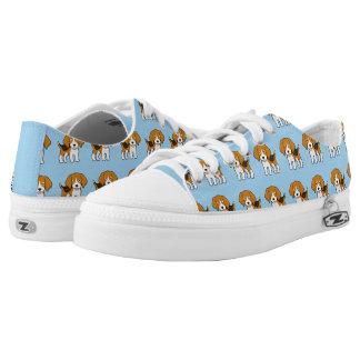 Cute Beagle Low-Top Sneakers