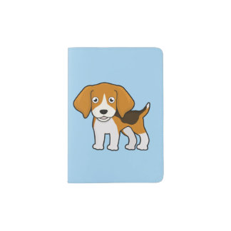 Cute Beagle Passport Holder