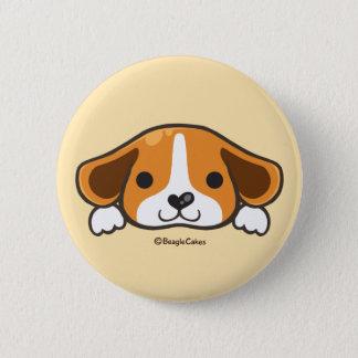 Cute Beagle Pinback Button