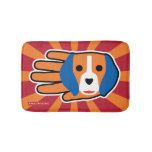 Hand shaped Cute Beagle Pup Bathroom Mat