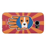 Hand shaped Cute Beagle Pup Samsung Galaxy S6 Case
