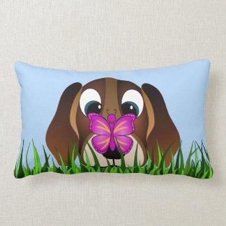 Cute Beagle Puppy Dog and Butterfly Lumbar Pillows