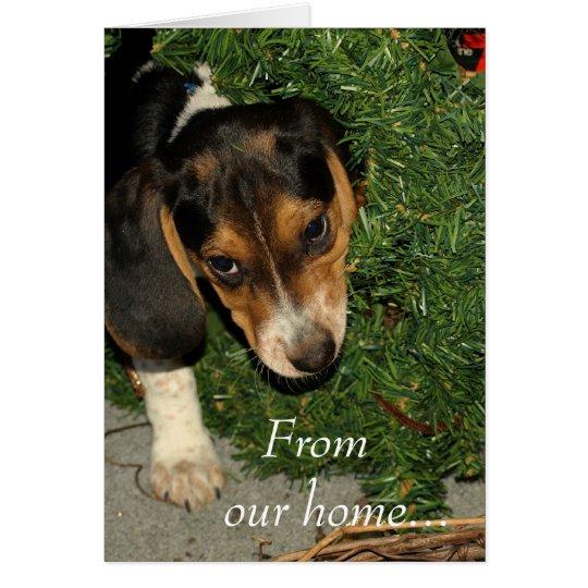 Cute Beagle Puppy Snoopy - Christmas Card