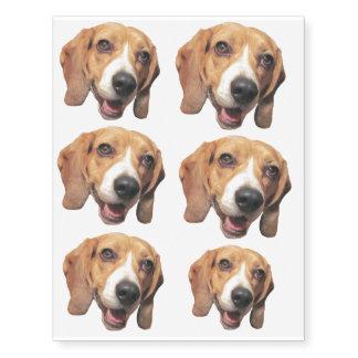 Cute Beagle Temporary Tattoos
