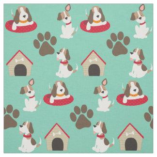 Cute Beagles Fabric