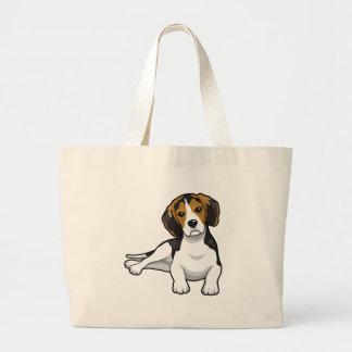 Cute Beale Puppy Jumbo Tote Bag