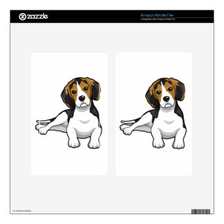 Cute Beale Puppy Kindle Fire Decals