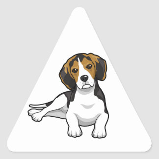 Cute Beale Puppy Triangle Sticker