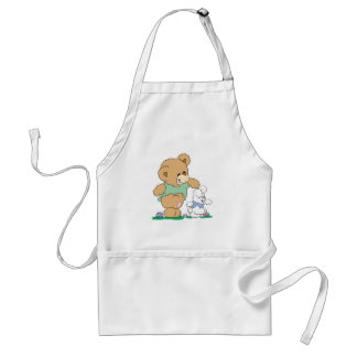 Cute Bear and Easter Bunny Aprons