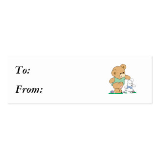 Cute Bear and Easter Bunny Business Card Template