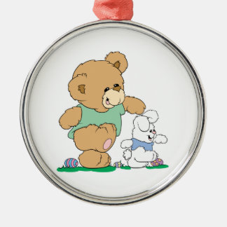 Cute Bear and Easter Bunny Christmas Ornaments