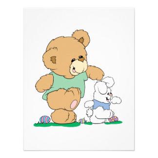 Cute Bear and Easter Bunny Custom Invites