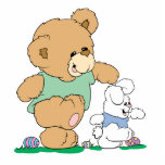 Cute Bear and Easter Bunny Cutout