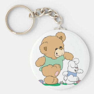Cute Bear and Easter Bunny Key Chain