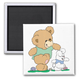 Cute Bear and Easter Bunny Magnets