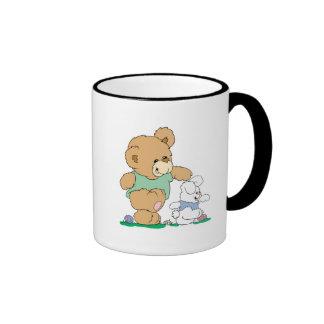 Cute Bear and Easter Bunny Mug