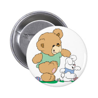 Cute Bear and Easter Bunny Pin
