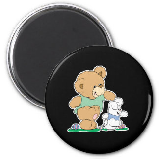 Cute Bear and Easter Bunny Refrigerator Magnet