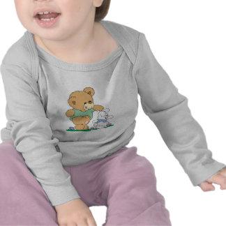 Cute Bear and Easter Bunny Tee Shirt