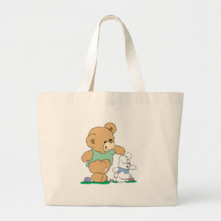 Cute Bear and Easter Bunny Tote Bags
