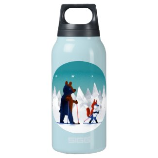 Bear and Fox Insulated Water Bottle