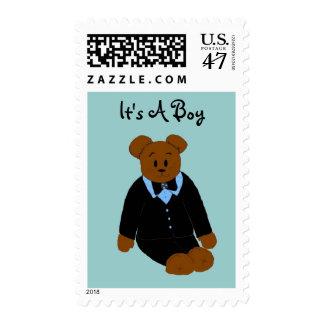Cute Bear Baby Boy Postage