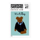 Cute Bear Baby Boy Postage Stamp