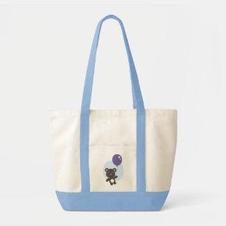 Cute Bear & Balloon Tote Bag