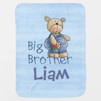 Cute Bear Big Brother Swaddle Blanket