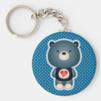 Cute Bear Blue Key Chains