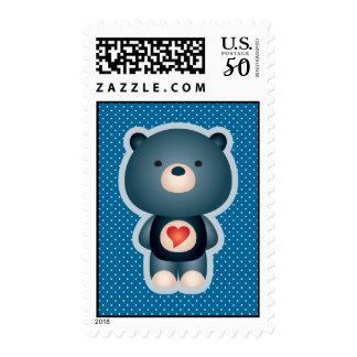 Cute Bear Blue Postage