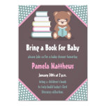 Cute Bear Bring a Book Baby Shower Invitations
