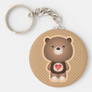 Cute Bear Brown Keychain