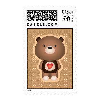 Cute Bear Brown Postage