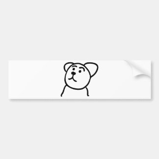 Cute bear bumper sticker