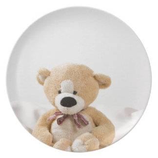 Cute bear doll melamine plate