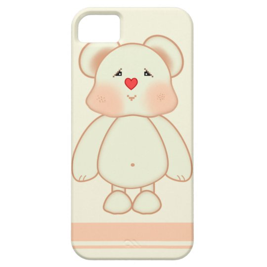 Cute Bear Drawing iPhone 5 Case