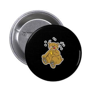 cute bear eating honey buttons