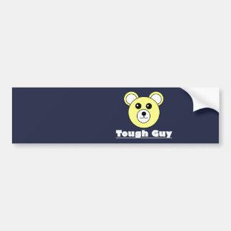Cute Bear Face Tough Guy Bumper Car Sticker